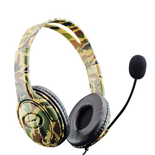 Gamin Headset with Microphone, Ergonomic Stereo Sound Headphone for Video Games