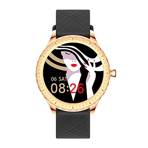 TREWQ Smartwatch Mujer, Reloj Inteligente Impermeable IP67, Monitor De SueñO Y CaloríA PulsóMetro, Notificaciones Inteligentes, Reloj Deportivo Mujer para Android iOS HarmonyOS,Negro