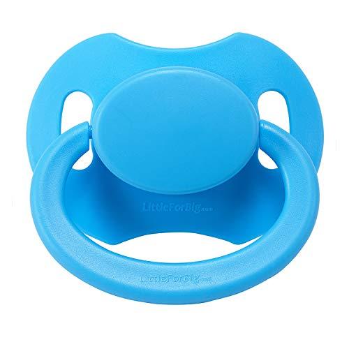 LittleForBig Großer Saugerschild Schnuller der Generation 2 in Erwachsenengröße für Erwachsene Baby ABDL-Blau
