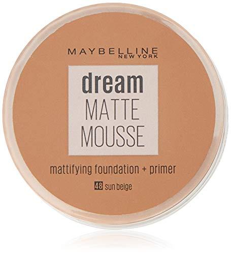 Maybelline Dream Matte Mousse 48 Beige ensoleillé - base de maquillaje...