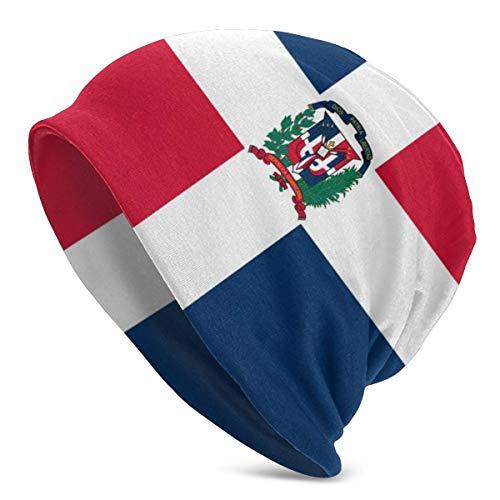 iuitt7rtree Gorros de Punto con la Bandera de la Repblica Dominicana para Hombres y Mujeres Sombreros de Invierno Gorras de Cobertura