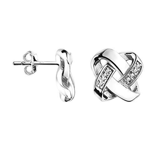 SOFIA MILANI Damen Ohrringe Ohrstecker Knoten Silber 20826