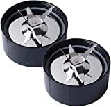 MB1001 Replacement Blade Parts for Magic Bullet 250W Blenders, Spare Cross Blade Compatible with Magic Bullet Juicer, Mixer and Food Processor(2 Pack Ice Shaver Blades)