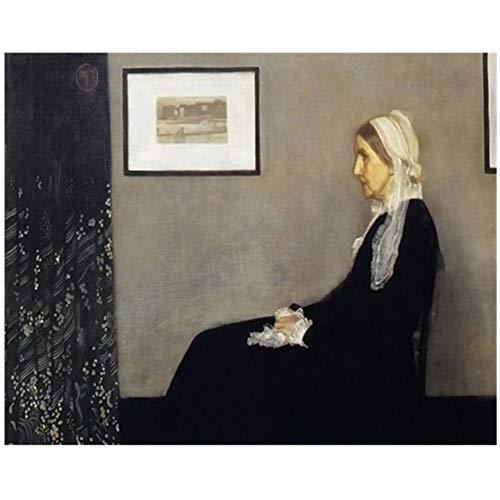 A&D Leinwand James Abbot McNeill Whistler Gemälde Wandkunst Klassische Bild Poster Drucke Wohnkultur Wohnzimmer -70x90cm Kein Rahmen