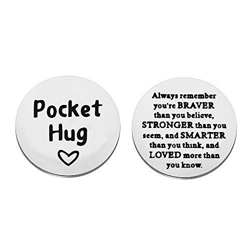 Pocket Hug Token Always Remember You Are Braver...