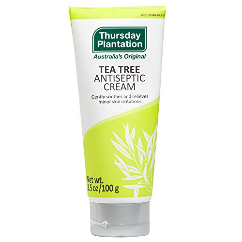 Thursday Plantation Tea Tree Antiseptic Cream, Antibacterial Skin Treatment, 3.5 Ounces