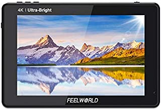 """FeelWorld LUT7S 7"""" FHD Monitor (2200nits, Touch Screen, High Contrast 1200:1, High Resolution 1920 x 1200, 3D LUT) Black"""
