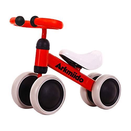 Bicicletta per Bambini 1-3 Anni, Bicicletta Equilibrio Bambino, Triciclo Senza Pedali, Prima Bici (Rosso)