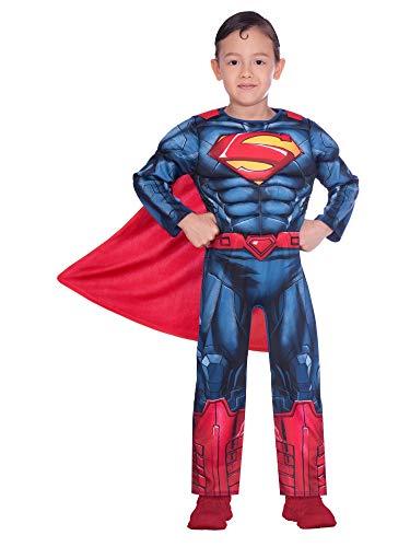 Amscan 9906197 Disfraz clsico de Superman para Halloween de 3 a 4 aos