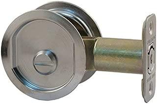 Stone Harbor Hardware 811-26D Pocket Door Lock Privacy Function Round Backset, 2.375