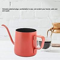繊細なグースネックコーヒーケトルコーヒーポットグースネックコーヒーポットステンレス鋼火傷防止コーヒーショップコーヒー用アクセサリー(red)