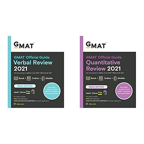 Gmat Official Guide Verbal Review 2021: Book + Online Question Bank + Gmat Official Guide Quantitative Review 2021: Book + Online Question Bank (Set Of 2 Books)