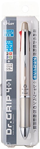 Pilot Dr. Grip 4+1, 4 Color 0.7 mm Ballpoint Multi Pen & 0.5 mm Mechanical Pencil - Champagne Gold Body (BKHDF1SFN-CG)