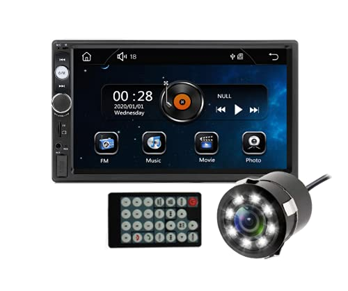 Sulfar Double Din Car Music System Car Stereo with Touch Screen, Mirror Link, Bluetooth, Car Media Player and LED Car Camera/Reverse Camera