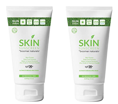 """SKIN Sunscreen GOLF - 2018""""Golf Digest"""" Editor's Choice for Best Sunscreen and Lip Balm! - Oxybenzone Free (1.4 Ounce Travel Tube - Pack of 2)"""