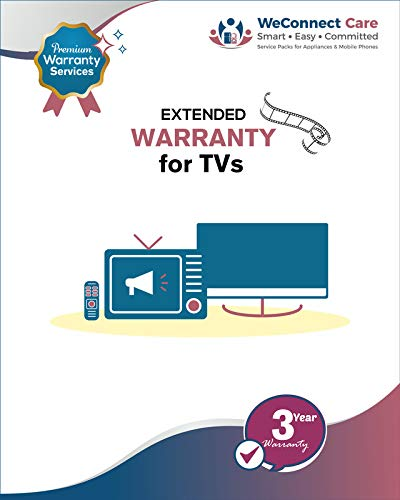 WeConnect Care - 3 Years Extended Warranty for Mi LED TVs 4A & 4X (43 inches, 49 inches & 50 inches)