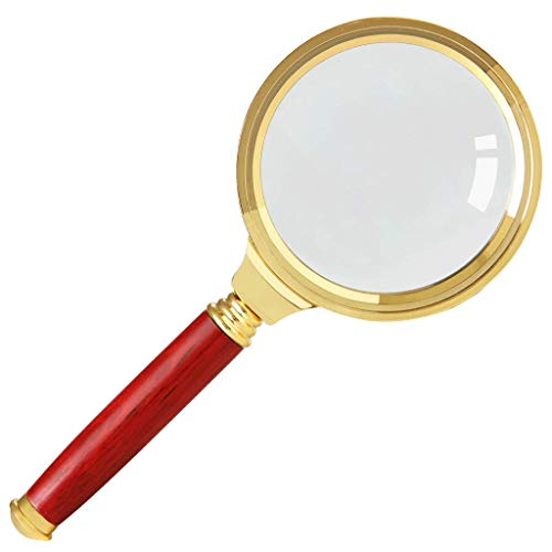 TP Lesung Lupe - Lupe Red Holzgriff Old Man Lesung Lupe 20x Optisches Glas Geeignet für Bücher Zeitung Karte Münze Schmuck Hobby @@