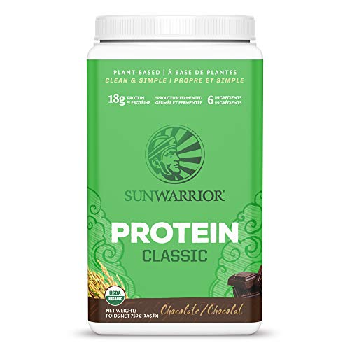 SUNWARRIOR Classic Rice Protein Chocolate, 750 g