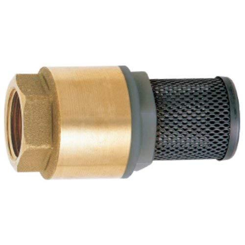 GEKA 1694SB Fußventil IG G 1 Zoll MS, Gold/Silber, 18 x 8 x 13 cm