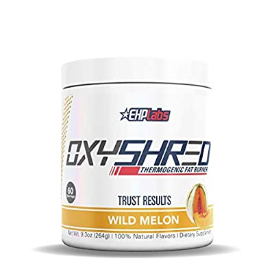 EHPlabs OxyShred Thermogenic Fat Burner Boost Metabolism, Low Stimulant, Destroy Stubborn Fat Cells (60 Servings) (Wild Melon)