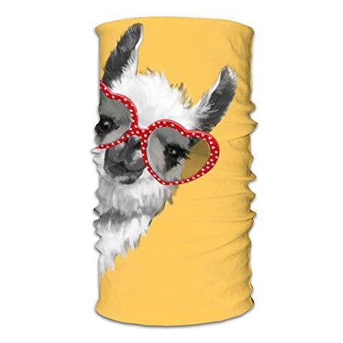 WH-CLA Pasamontañas Hombre Mujer Sombreros Viento Polvo Prueba Pañuelo De Cabeza Customed Bandana Llama De Moda Hipster con Gafas Cuello Pañuelo para Pesca Caza Cámping