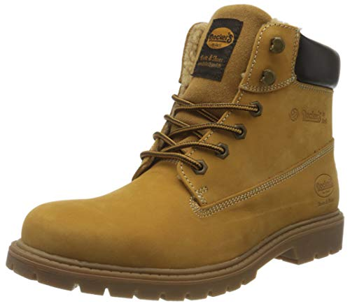 Dockers by Gerli Herren 45CA101 Combat Boots, Gelb (Golden Tan 910), 44 EU