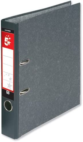 5 Star Mini Lever Arch File Cloudy 50mm latest Spine Grey Pac Now free shipping Foolscap