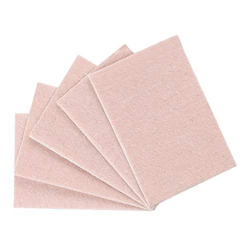 Baoblaze 5 Unids Almohadillas Adhesivas Antidesgaste Pegatina de Protección de Pies Cortable