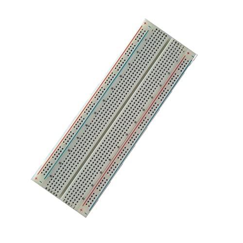Temhyu Shuxiang-Placa PCB MB102 Breadboard, para MB-102 Tablero de PCB de ProtoBoard, Breadboard 830 Punto sin Soldadura, Prototipo Universal, Prueba Desarrollar para Proyecto electrónico