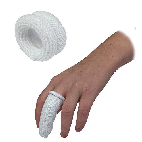 25Stück qualicare Erste Hilfe Finger Rolle Bobs Kinderbett Buddies Schlauchverband, weiß