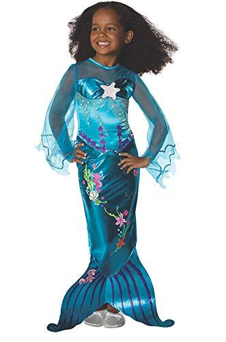 Disfraz de Sirenita - Sirena - Azul - Talla 116 (4-6 años)