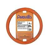 Anguila 60400020 Guía pasacables Cordón de Acero + Polipropileno, Naranja, 20 Metros