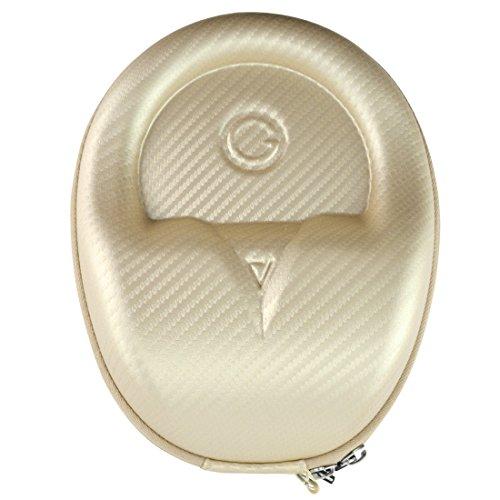 Geekria EJB61 UltraSkin Compacte Hoofdtelefoon Case/Hard Shell Headset Draagtas/Oortelefoon Reistas voor Mid-Sized Opvouwbare en Niet-Fordable Hoofdtelefoon Goud