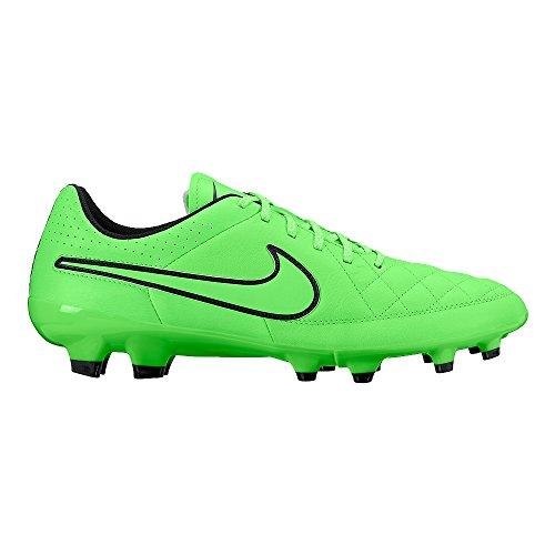 Nike Herren Tiempo Genio Leather FG Fußballschuhe, Grün (Green Strike/Grn Strk-Blk-Blk), 44 EU