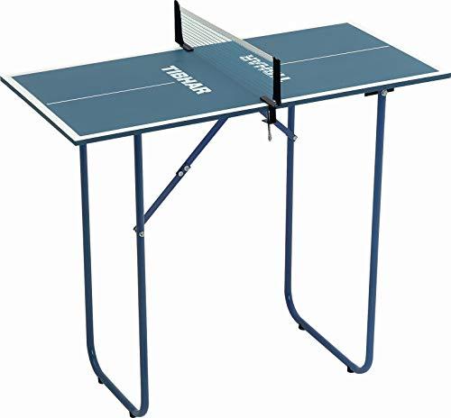 Tibhar Tischtennis Mini-Tisch inkl. Netz für Drinnen   Indoor Tischtennisplatte Klein   90 x 45 x 76 cm   7kg