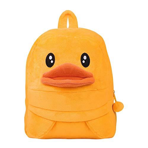 Toddler Baby Yellow Duck Backpack Kids Cute Animal Cartoon Kindergarten Schoolbag Mini Travel Bag Rucksack Strap Shoulder Bag for Boys Girls