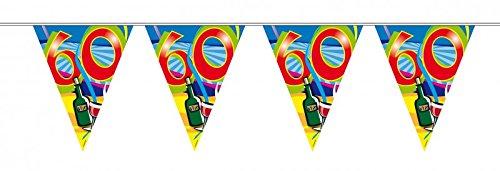 10 m verjaardag wimpel slinger ketting 60 jaar party decoratie verjaardag