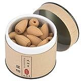 Hztyyier 40Pcs Conos de Incienso de reflujo Aromas Naturales Hipnotizante Torre de reflujo de sándalo Incienso para Yoga Salón de té Relajación(#2)