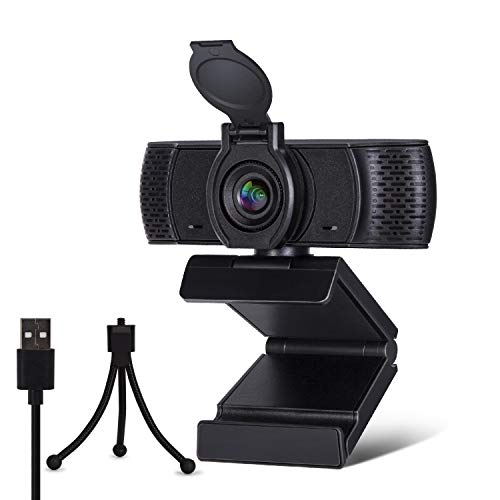 FutureCharger Webcam 1080P HD Computer Camera, Web Cam USB Camera, Webcam with Microphone Privacy Cover and Tripod, PC Camera Streaming Webcam Laptop Camera for Calling/Conferencing/Online Teaching