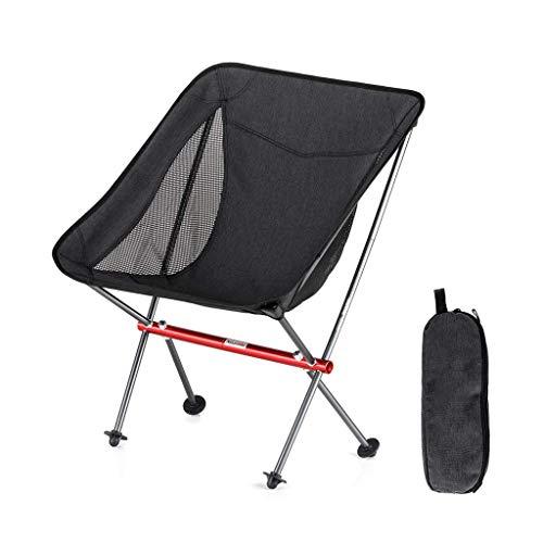 BSDBDF Chaises de Camping Pliantes ultralégères et Respirantes pour la pêche, Les Festivals, la Plage Size Noir