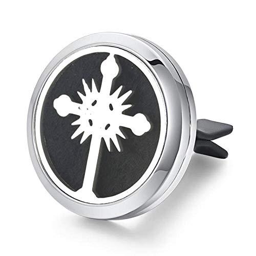 10 unids/lote Venta al por mayor difusor de perfume del coche de acero inoxidable ambientador difusor de aceite esencial...