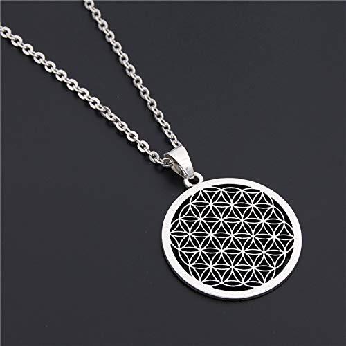 1Pc Blume Des Lebens Buddhistische Halskette Long Chain Samen Des Lebens Sacred Geometry Schmuck Fleur De Vie Yoga Namaste Necklace