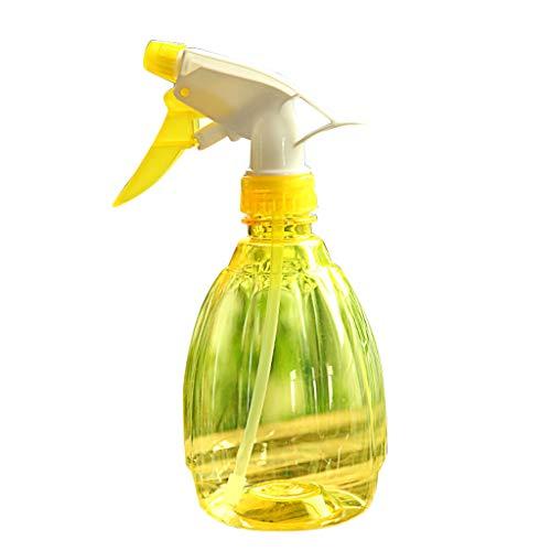 DingLong Drucksprühflasche Sprühflasche Pumpsprühflasche, Universal-Pump-Druck-Sprüher, Handdruckart, 18 * 8cm für Blumen Gießen, Reinigen Abschluss Ihrer Frisur (Gelb)