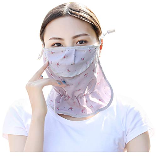 Best Price jin&Co Accessories Women Floral Anti Dust Scarf Summer Sunscreen Face Scarf Neck Scarf ...