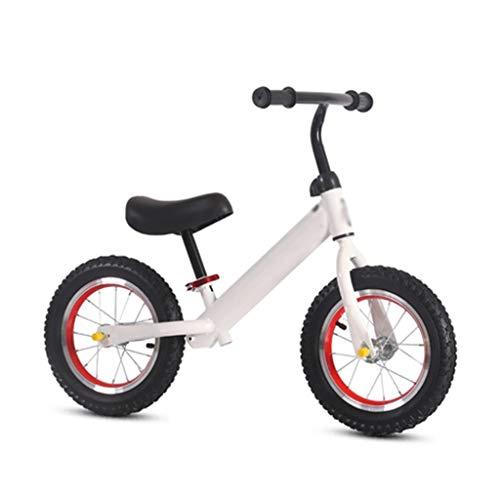 SJY Bicicleta para niños de Dos Ruedas, Scooter sin Pedales Bicicleta equilibradora para niños, Dos Rondas para niños de 1 a 6 años Yo-yo Coche Bicicleta Ligera para niños (Blanco),Blanco