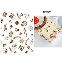 西渓 50pcs / lotはワックスペーパー食品グレードグリース紙パンバーガーフライドポテトラッパークッキーOilpaper 3メートル 羊皮紙 (Color : Coffee)