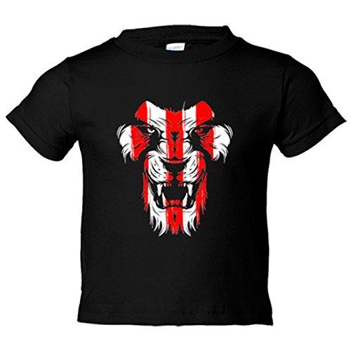 Camiseta niño ilustración dibujo Athletic león cara colores Bilbao - Negro, 5-6 años