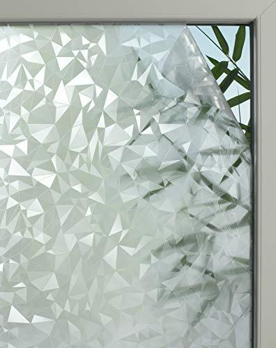 GARDINIA Statische Fensterfolie Graphic 50, Lichtdurchlässig, Zuschneidbar, 100 % PVC, 45 x 150 cm, Prisma-Optik, Halbtransparent