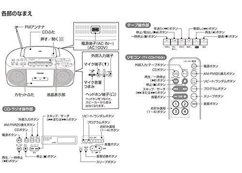 東芝ラジカセTY-CDS7(S)[シルバー]