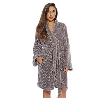 Just Love Kimono Robe / Bath Robes for Women, SizeMedium, Light Grey